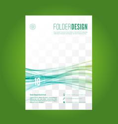 blue swoosh lines folder design layout vector image