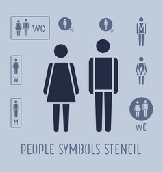 people pictogram for toilet female and male vector image