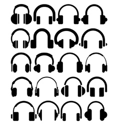 Headphone icons vector