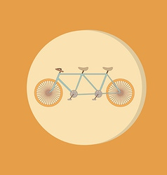 Retro bicycle icon symbol of transport icon of a vector