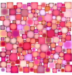 Many square pink shapes over white vector