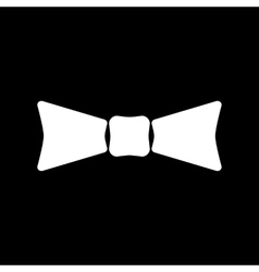 The bow tie icon bow tie symbol flat vector