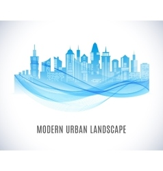 City urban design abstract landscape vector