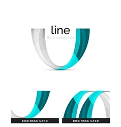 Swirl wavy ribbon abstract concept vector