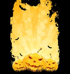 Grungy halloween party background vector