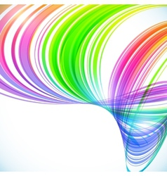 Abstract rainbow stripes shining background vector image vector image