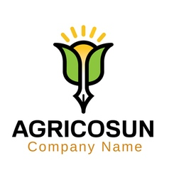Agrico sun logo vector