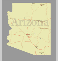 arizona state map with community assistance vector image