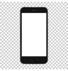 Black smart phone isolated on transparent vector