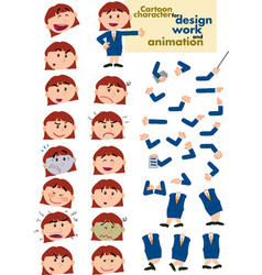 busibesswoman template for design and animation vector image