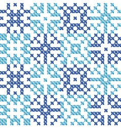Cross stitch ornament traditional embroidery vector