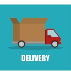 delivery truck transporting design isolated vector image vector image