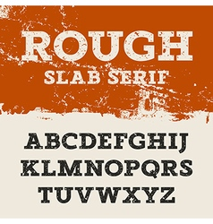 Grunge slab serif 001 vector