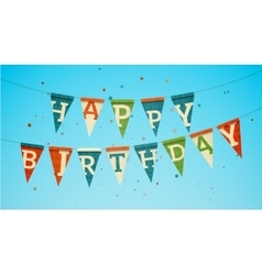 Happy birthday garland vector