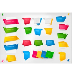 huge set of colorful origami paper banners vector image vector image