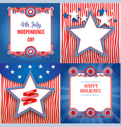 Independence day holiday backgrounds vector
