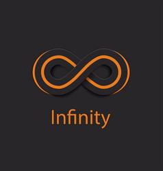 Infinity symbol logo vector