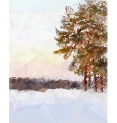 Landscape in the polygonal style vector image vector image