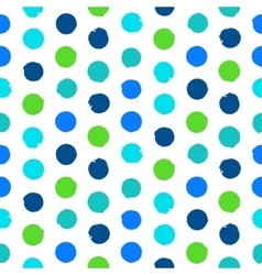 Polka dot pattern in green vector