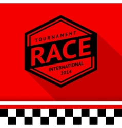 Racing stamp-13 vector