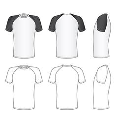 raglan sleeve t-shirt vector image vector image
