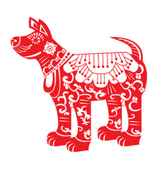Red dog chinese new year zodiac symbol 2018 vector
