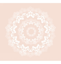 Round ornamental lace crochet vector image vector image