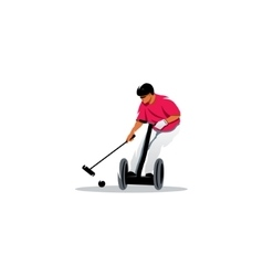 Segway polo sport sign vector image