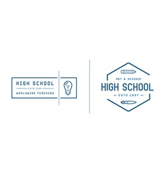 Set of school or college identity elements can be vector