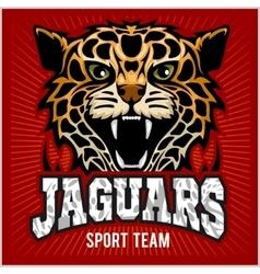 Sport team - Jaguar wild cat Panther vector image vector image