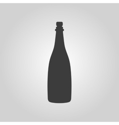 The champagne icon wine symbol flat vector