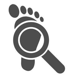 Trace detective icon vector