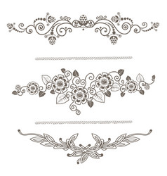 vintage decoration pages silhouette vector image vector image