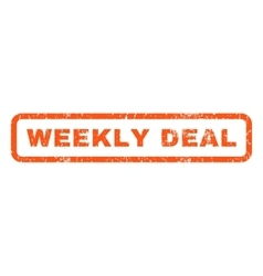 Weekly Deal Rubber Stamp vector image vector image