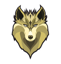 wolfs head low poly geometric polygonal flat vector image