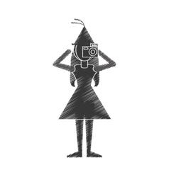 Woman take a picture icon design vector
