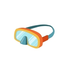 Scuba diving mask with strap vector