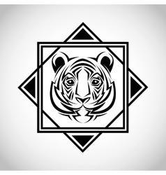 Tiger tattoo animal design vector
