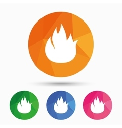 Fire flame sign icon fire symbol vector
