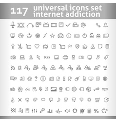 117 universal icons set collection vector