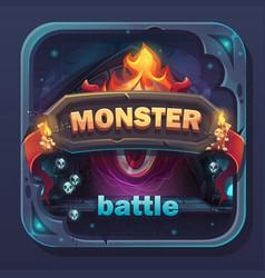 Monster battle gui icon vector