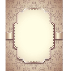 Retro frame vertical background vector