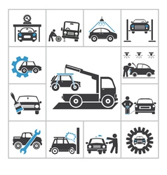 Auto repair icons vector