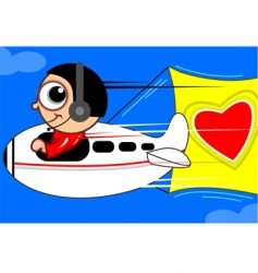 Aero plane with love vector