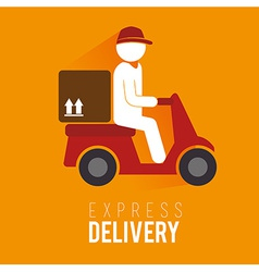 Delivery design over yellow background vector