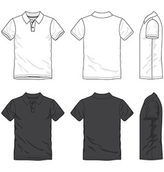 Blank polo shirt vector image