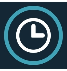Clock flat blue and white colors rounded vector