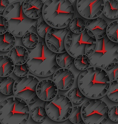 3d clock abstract time concept dark background vector