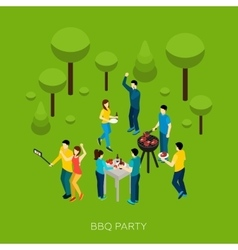 Friends bbq party vector