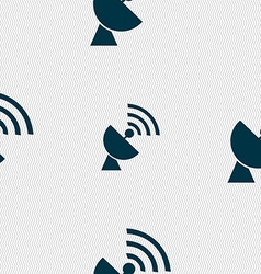 Satellite antenna icon sign seamless pattern with vector